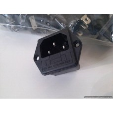 IEC AC Female Socket with Fuse Holder