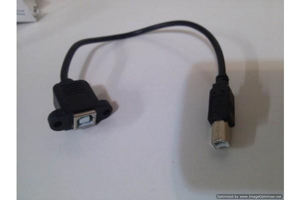 Mountable USB-B Female to Male Extension Bargain Bin