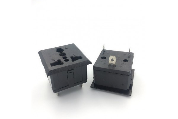 Universal AC Power Outlet Snap-In Receptacle