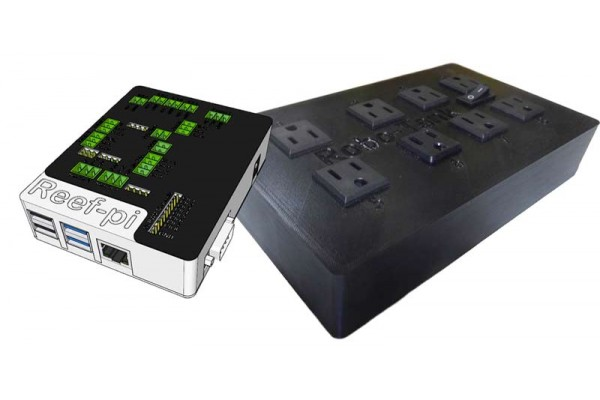 Reef-pi Standard Aquarium Controller + AC Power Bar Plug and Play