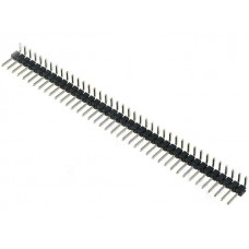 2.54mm Pitch Single Row Pin Header 40-Pin Male Right Angle