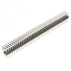 2.54mm Pitch Double Row Pin Header 40-Pin Male Right Angle