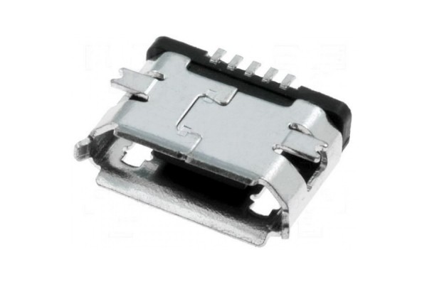 Micro USB 5-Pin Female SMD Socket Connector - Silver