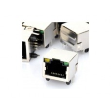 RJ45 Network Socket with Indicator Lights - PCB Mount