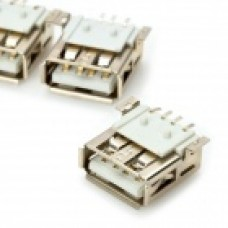 USB Type A 4-Pin Female SMD Socket Connector - Silver