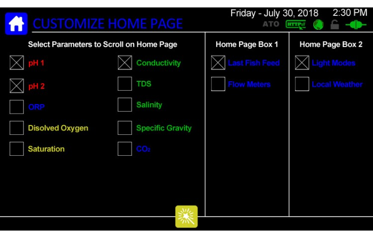 Customize Home Page