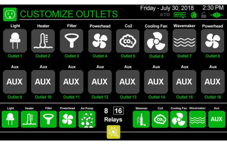 Customize Outlet Icons