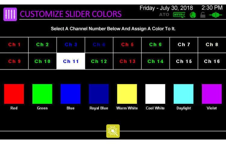 Customize LED Slider Colors