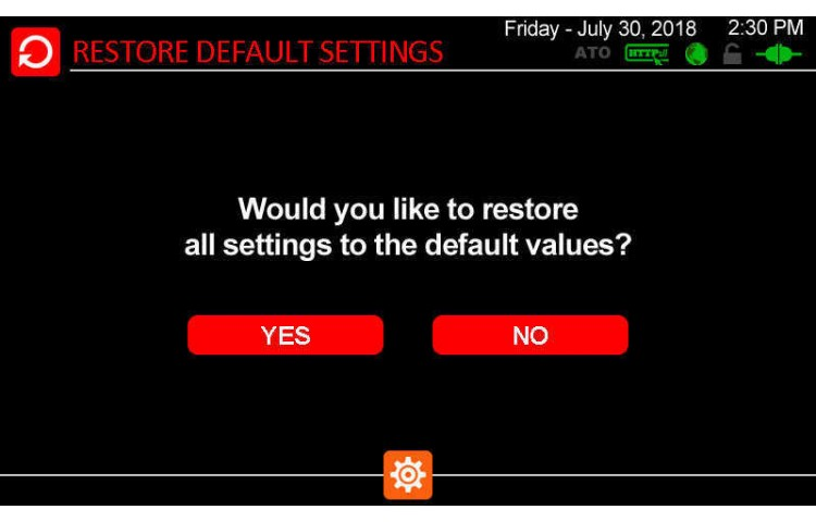Restore Default Settings