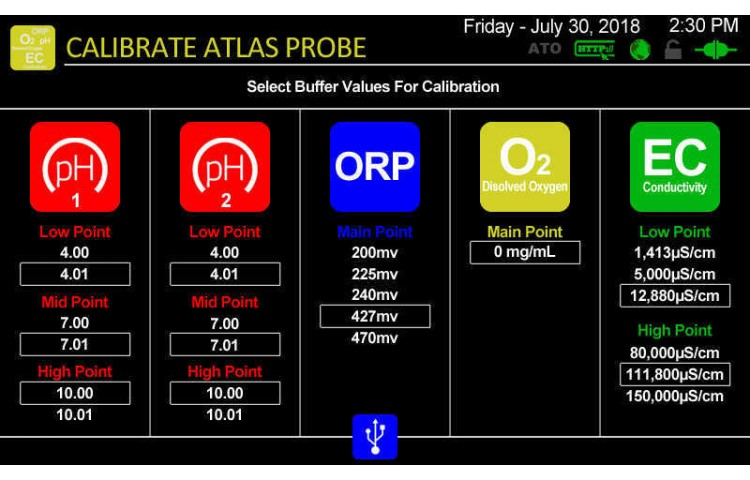 Atlas Scientific Calibration Settings