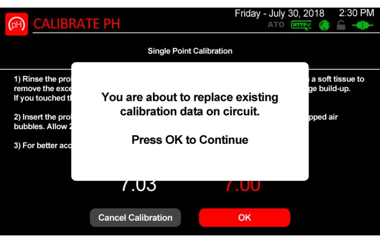 Atlas Scientific Calibration Confirmation
