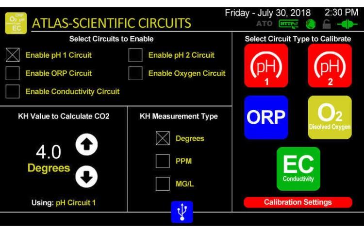 Atlas Scientific Circuit Settings