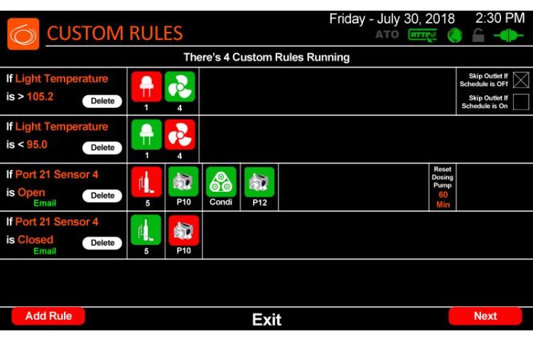 Custom Rules List