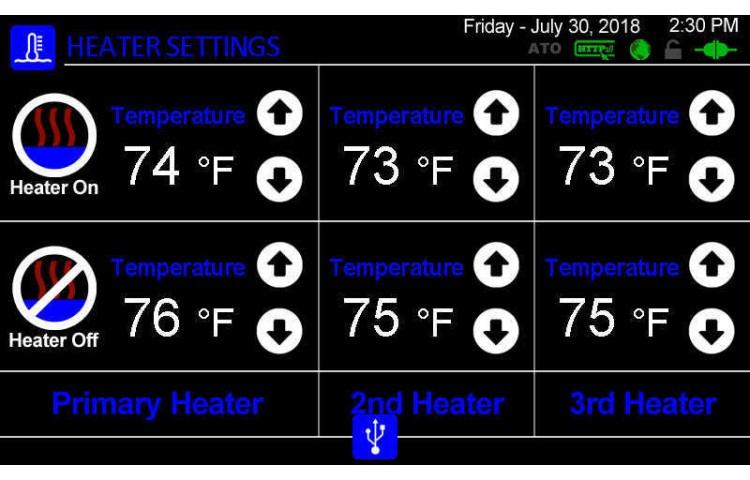Heaters Settings
