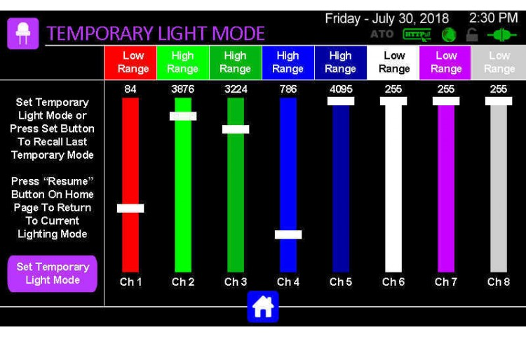 Lights Temporary Modes