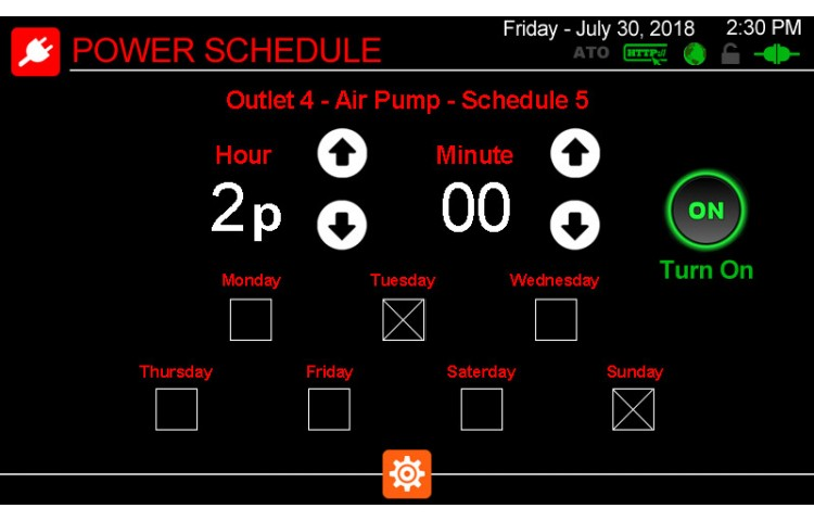 Edit Outlet Schedules