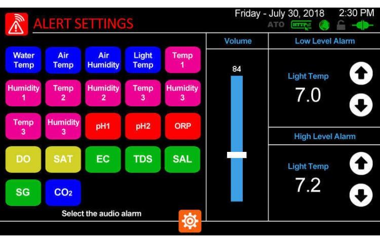 Audio Alerts Settings