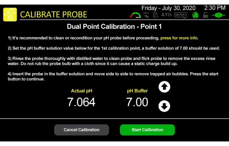 Calibrate pH Probe Point 1