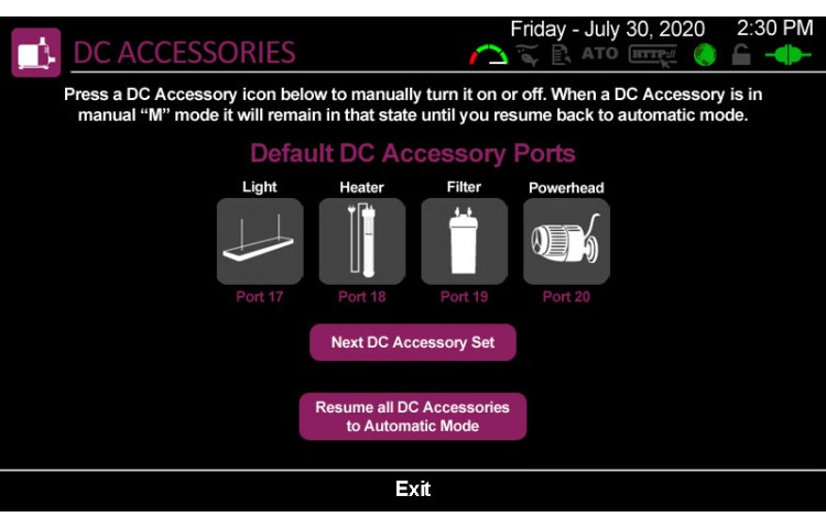 Manually Adjust DC Accessories