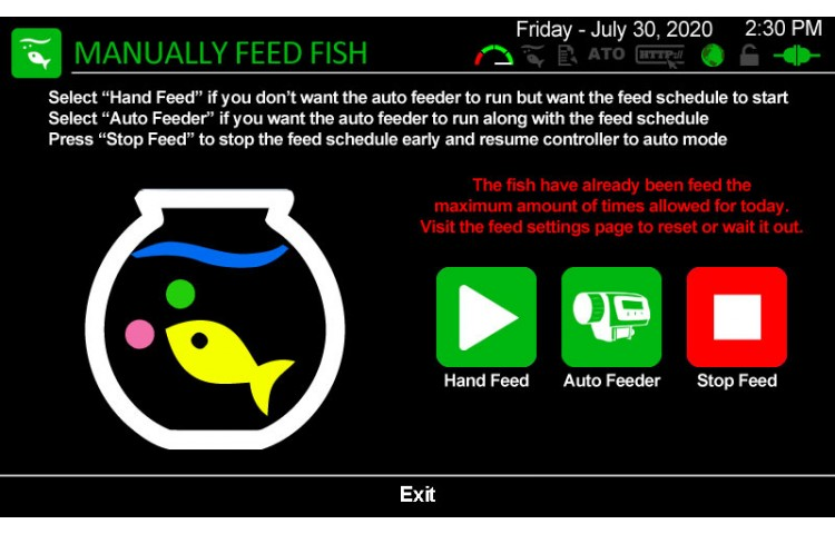 Feed Fish Manually