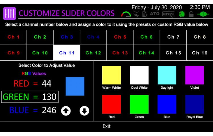 Customize LED Slider Colors
