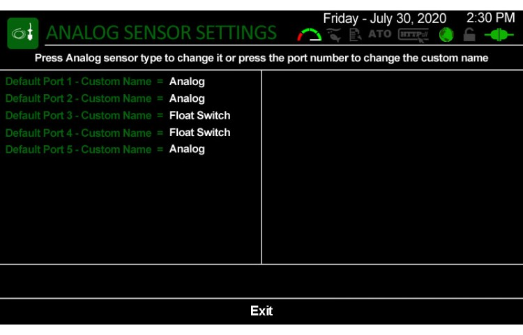Analog Sensors Connected