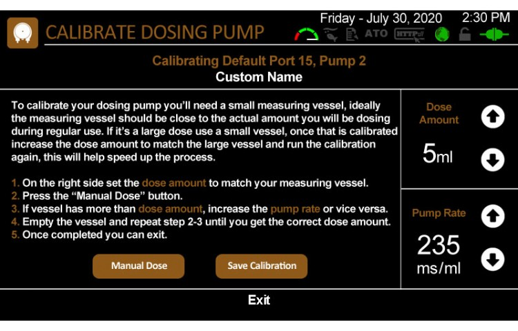 Calibrate Dosing Pumps
