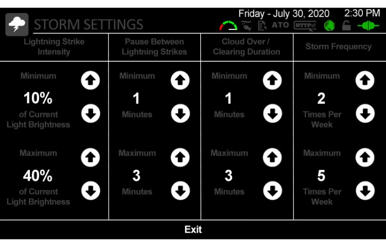 Lightning Advance Settings